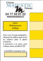 Carte abonnement 5 films